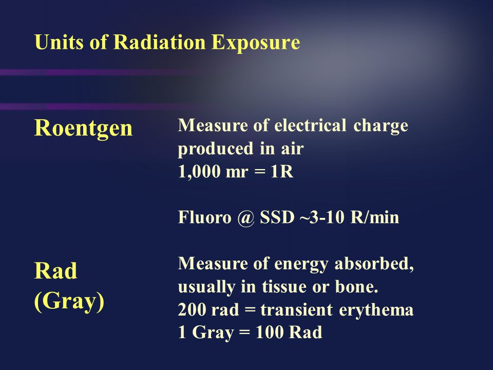 Units of Radiation Exposure