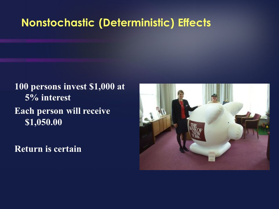 Nonstochastic (Deterministic) Effects