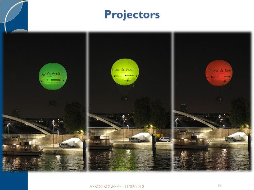 Projectors AEROGROUPE © - 11/02/2010 AEROGROUPE © - 11/02/2010