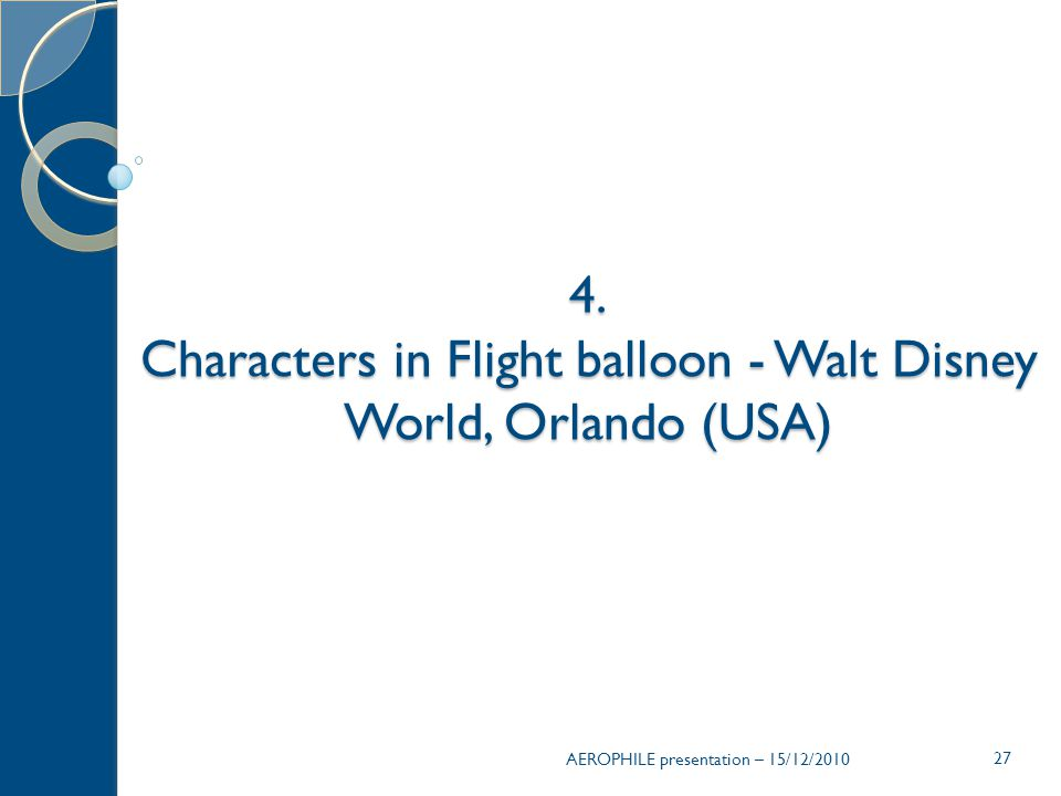 Characters in Flight balloon - Walt Disney World, Orlando (USA)