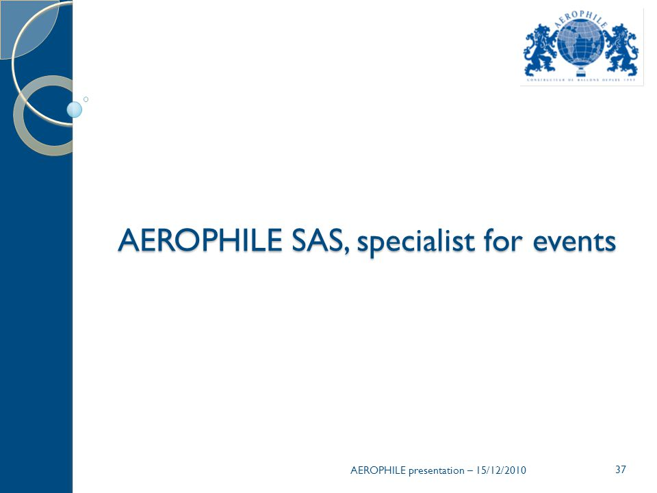AEROPHILE SAS, specialist for events