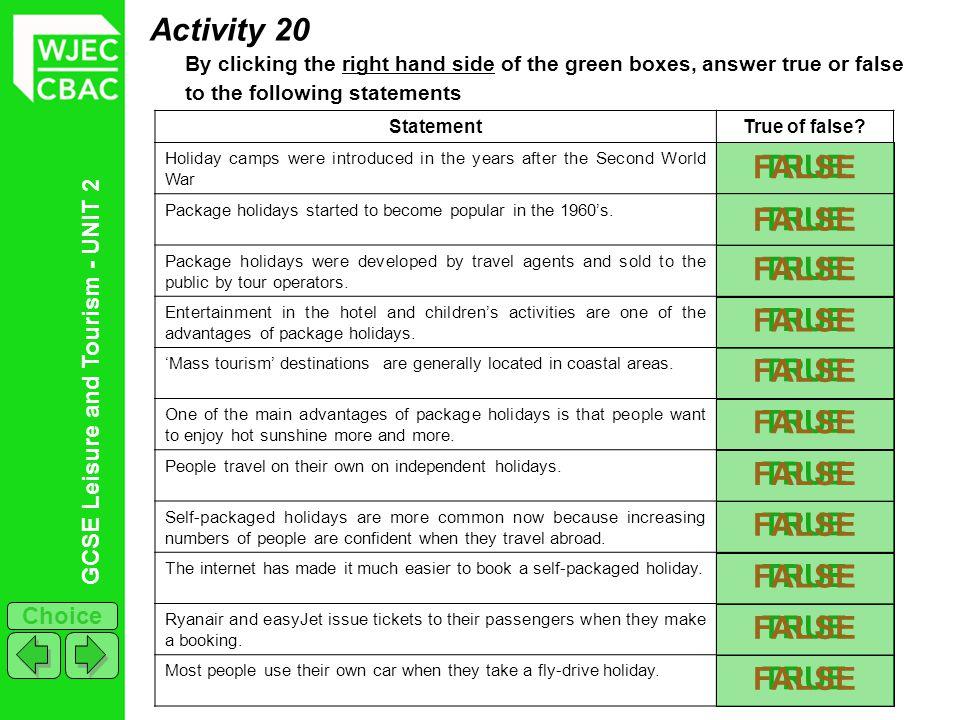 Activity 20 FALSE TRUE FALSE TRUE TRUE FALSE FALSE TRUE FALSE TRUE