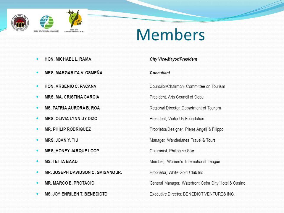 Members HON. MICHAEL L. RAMA City Vice-Mayor/President