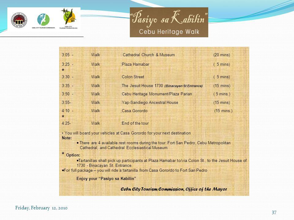 * * Option: Cebu City Tourism Commission, Office of the Mayor