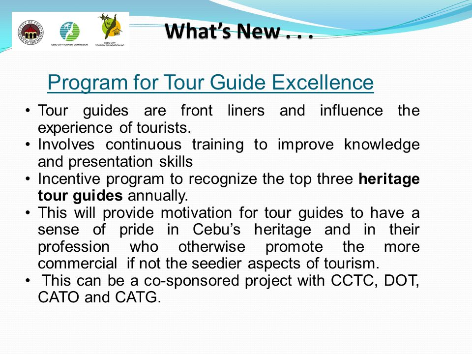 Program for Tour Guide Excellence