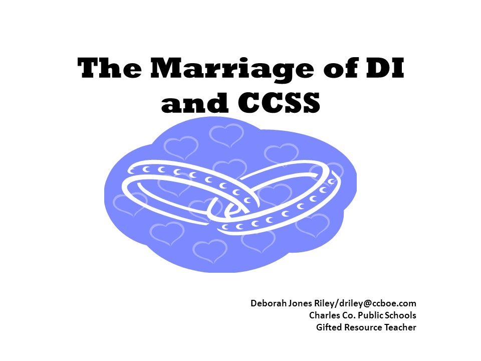 The Marriage of DI and CCSS