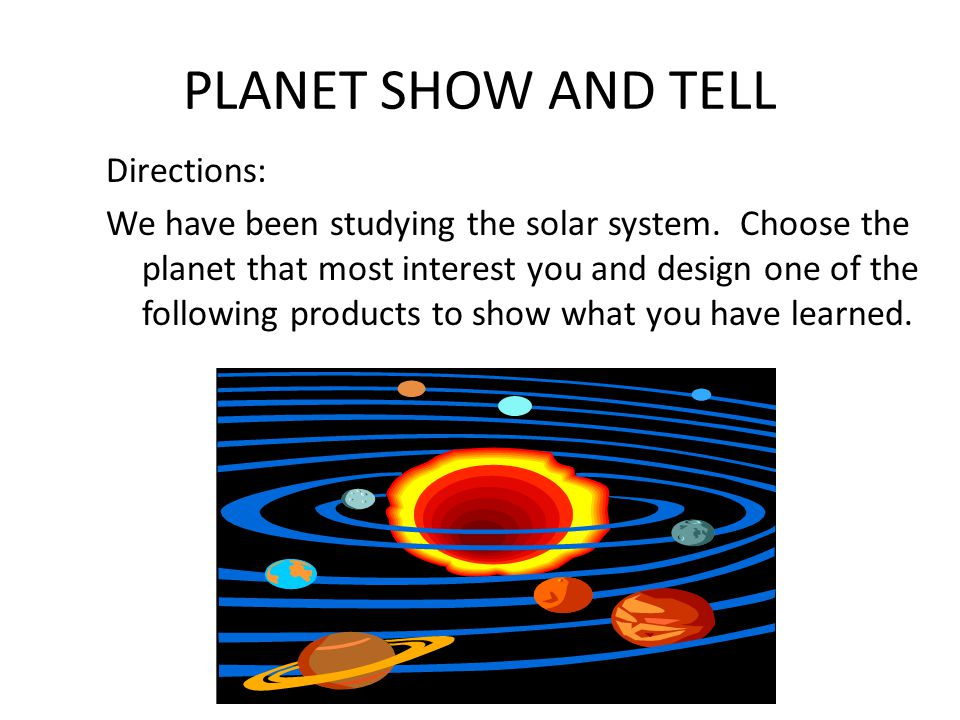 PLANET SHOW AND TELL