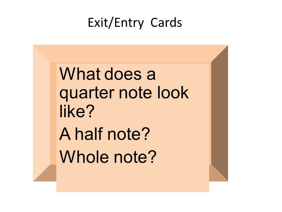 What does a quarter note look like