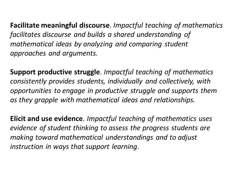 Facilitate meaningful discourse