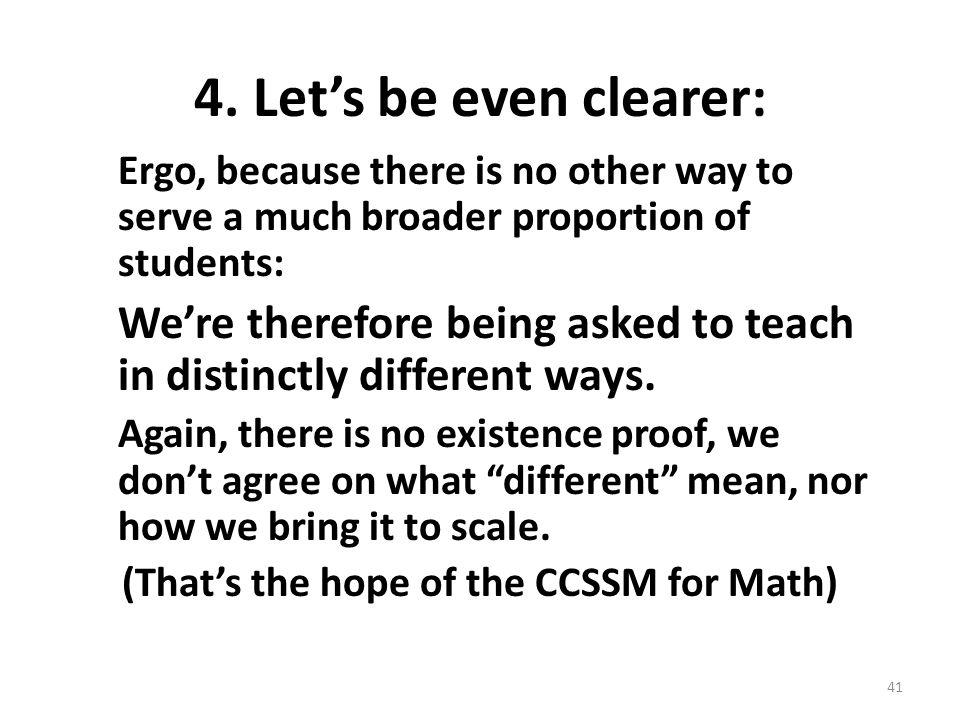(That's the hope of the CCSSM for Math)