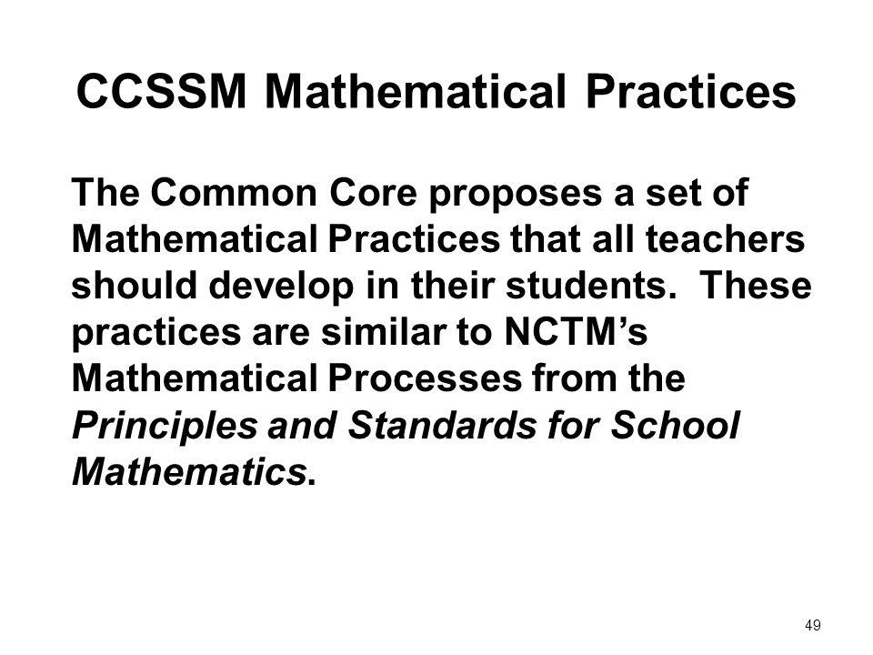 CCSSM Mathematical Practices