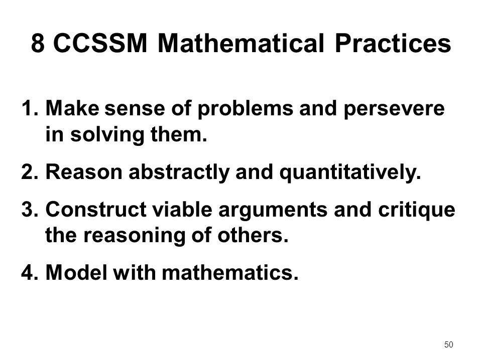 8 CCSSM Mathematical Practices
