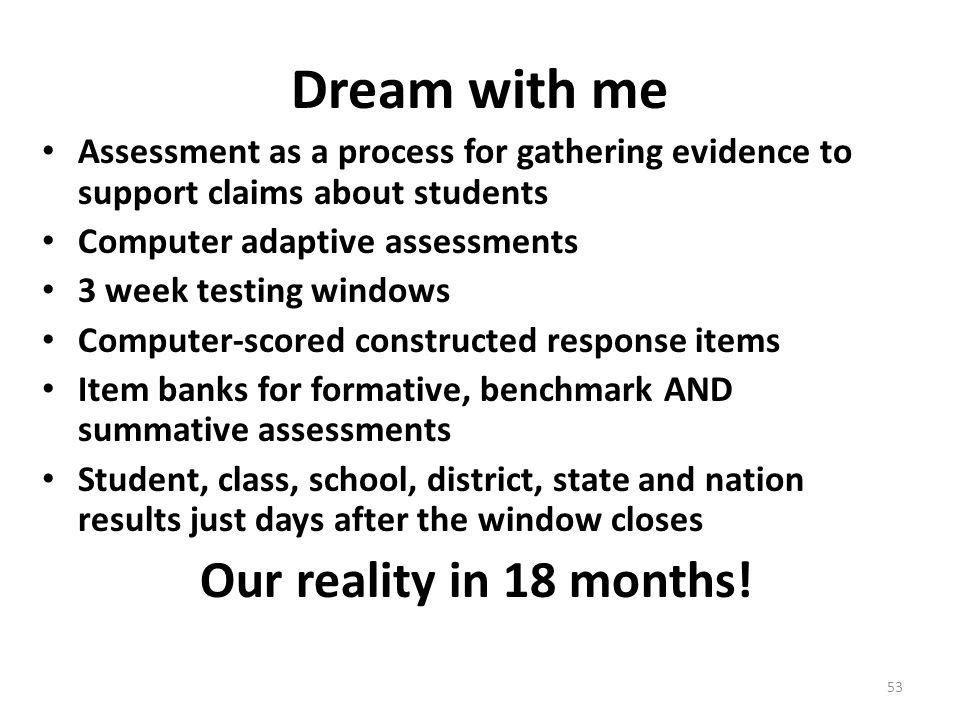 Dream with me Our reality in 18 months!