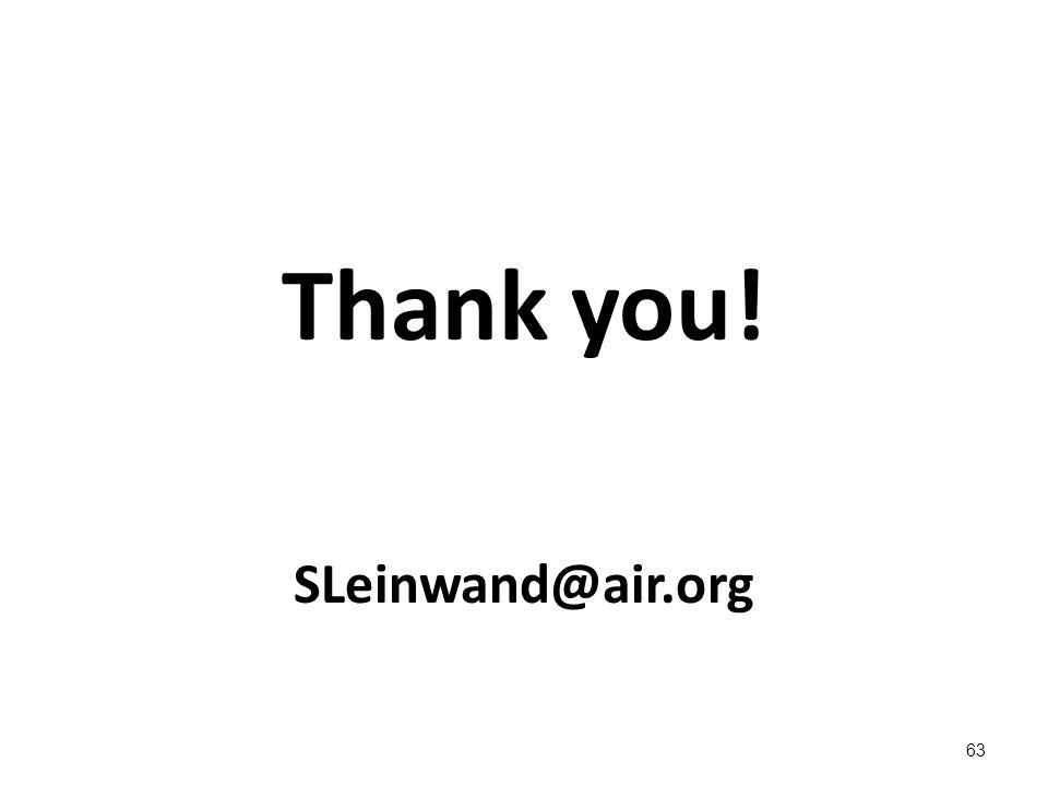 Thank you! SLeinwand@air.org