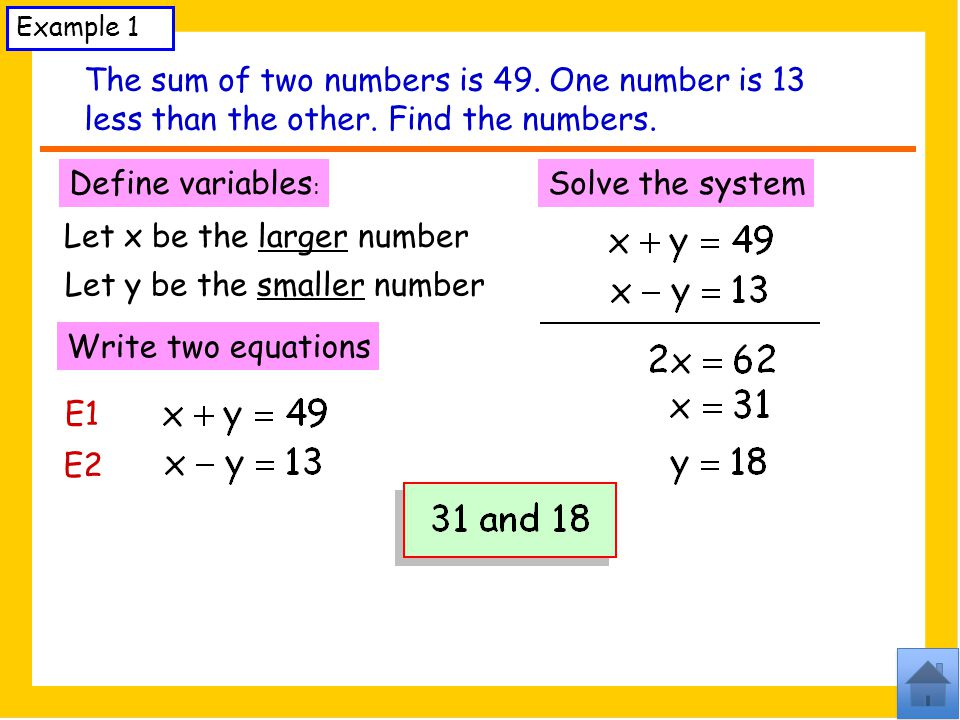 Let x be the larger number