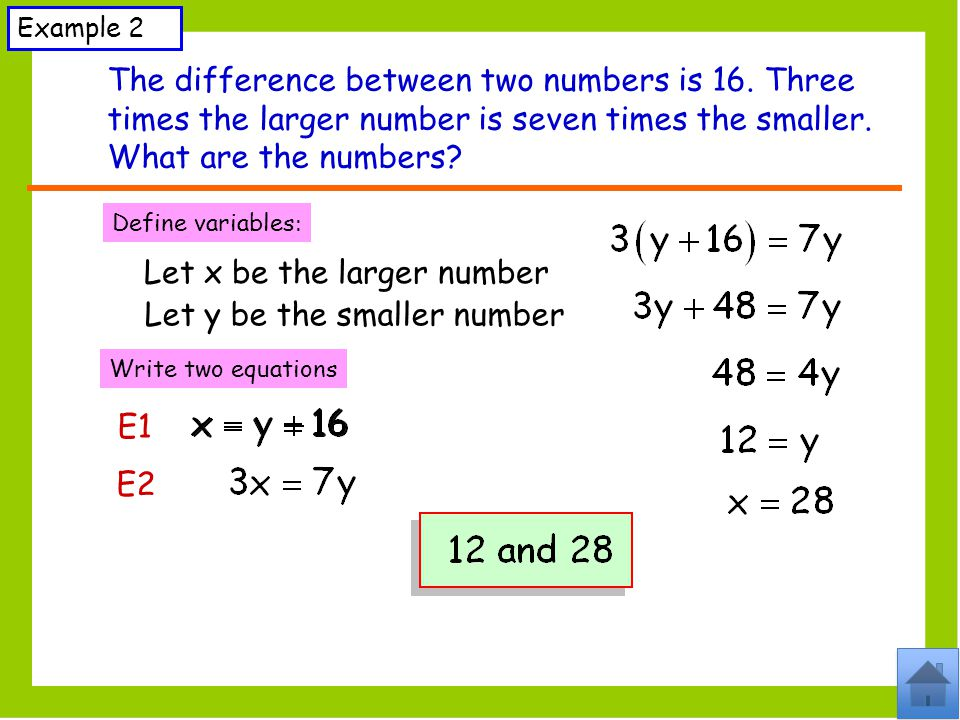 The difference between two numbers is 16. Three
