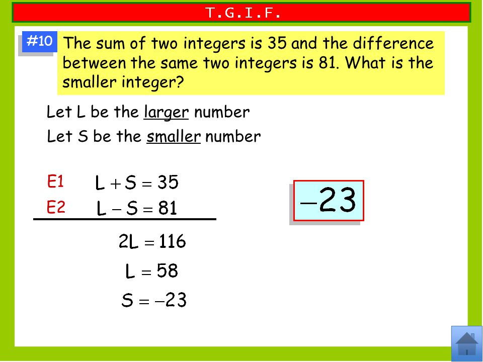 Let L be the larger number