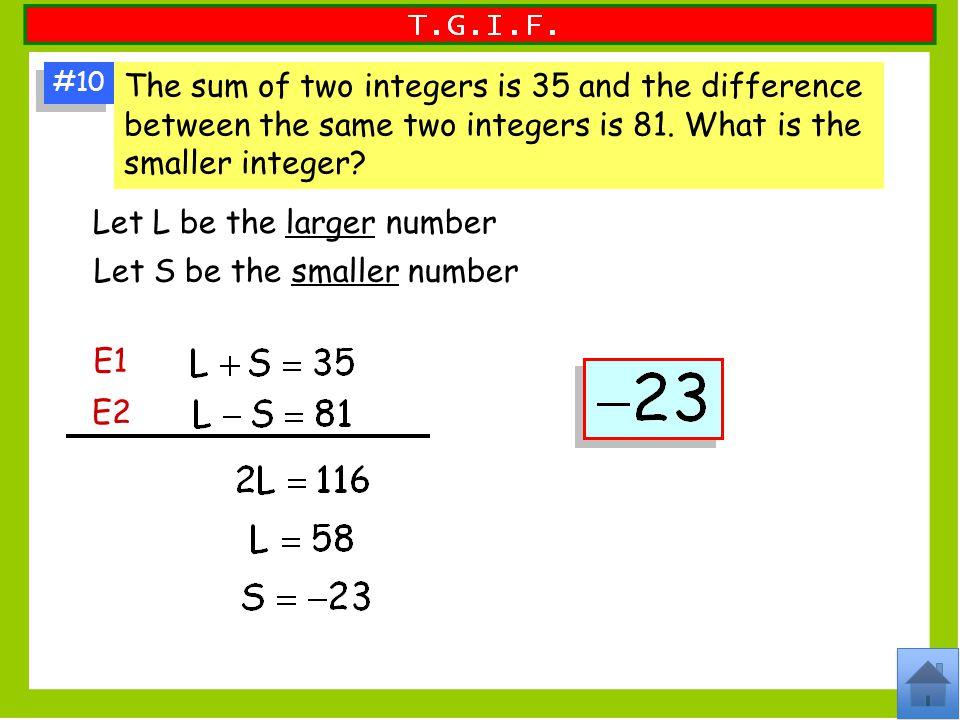 Let L be the larger number
