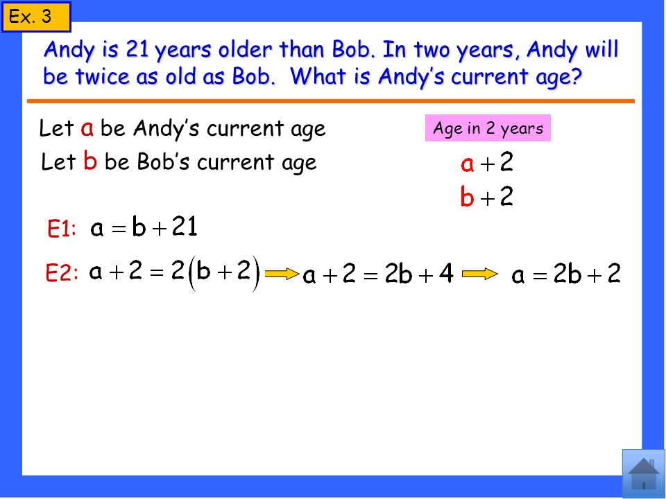 Let a be Andy's current age