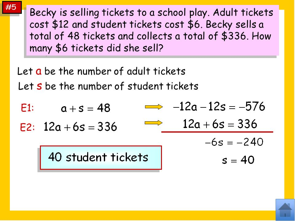 Let a be the number of adult tickets
