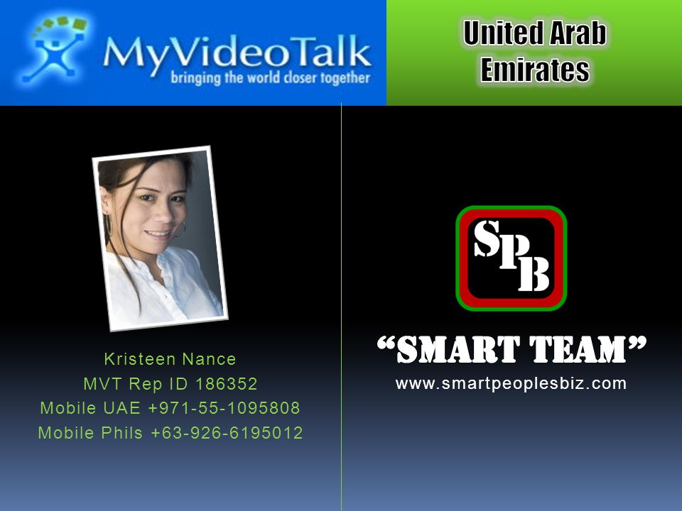 Smart Team Kristeen Nance MVT Rep ID 186352