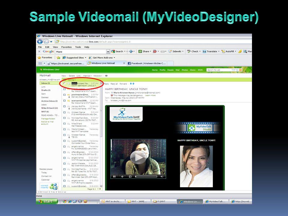Sample Videomail (MyVideoDesigner)