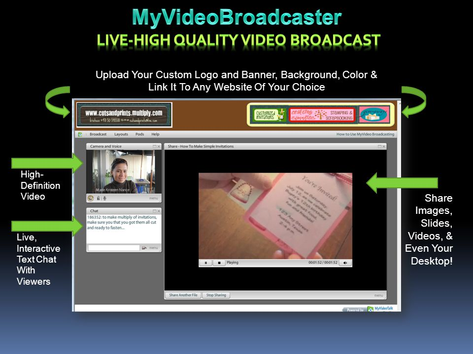 LIVE-HIGH QUALITY VIDEO BROADCAST