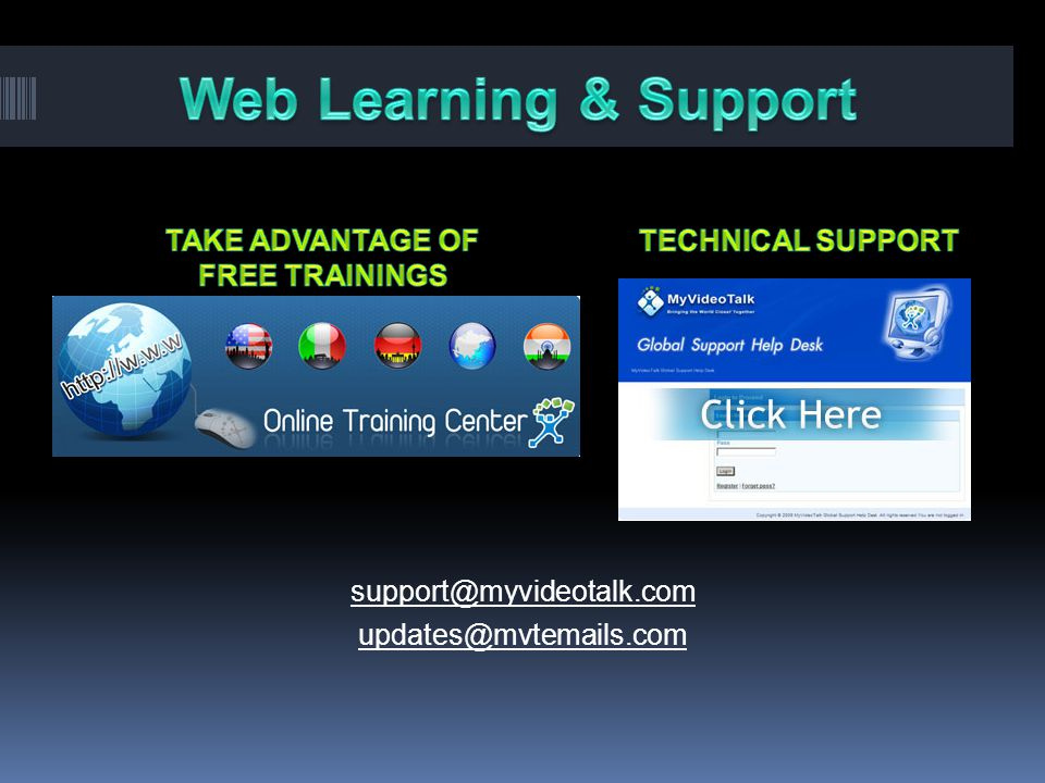 TAKE ADVANTAGE OF FREE TRAININGS