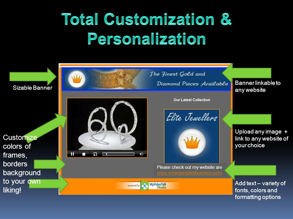 Total Customization & Personalization