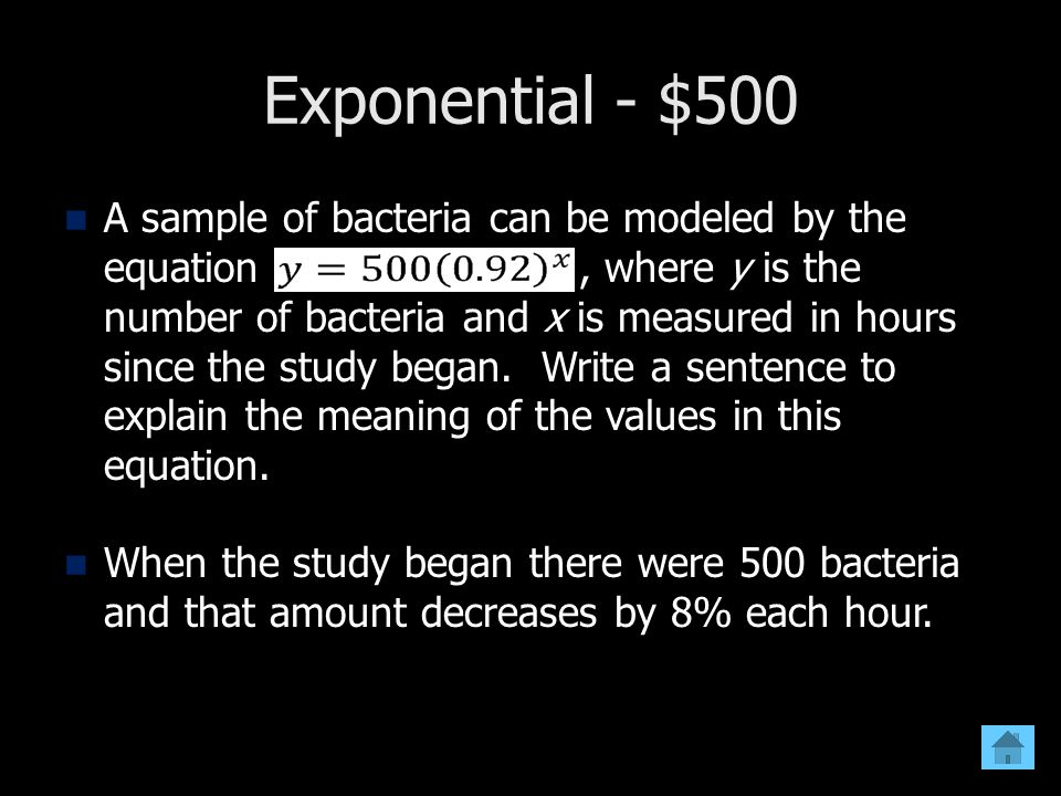 Exponential - $500