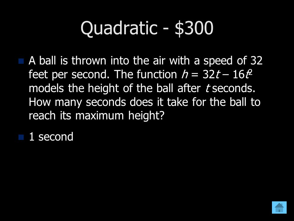 Quadratic - $300