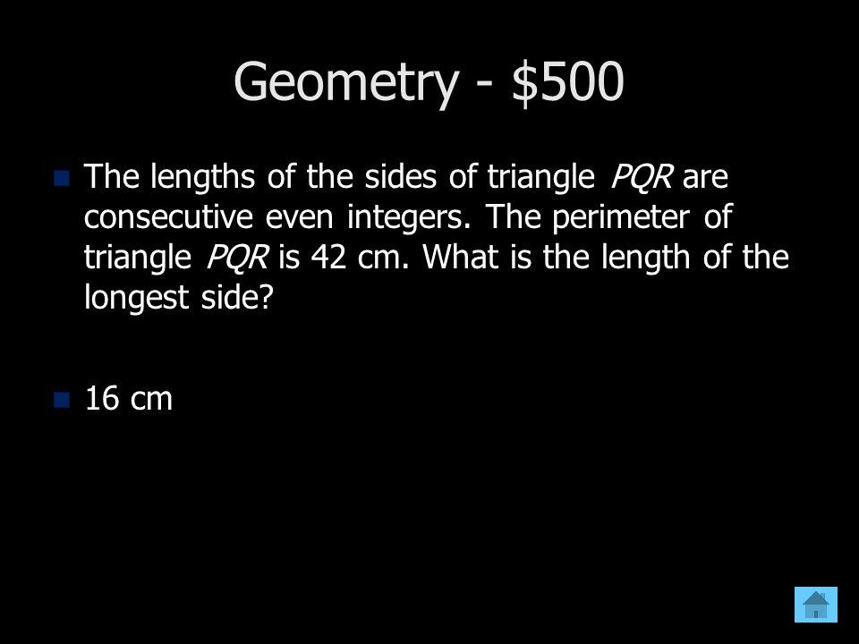 Geometry - $500