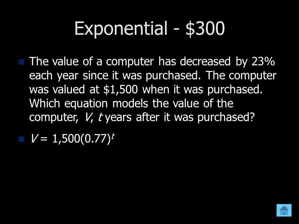 Exponential - $300