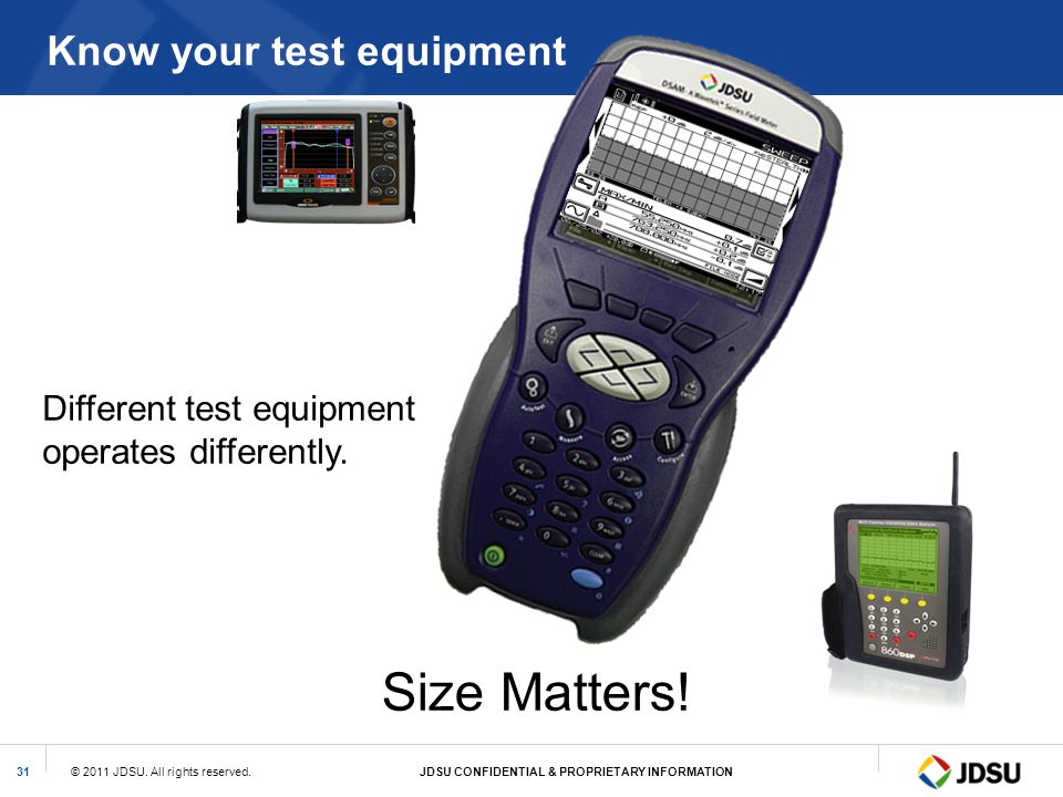 Know your test equipment