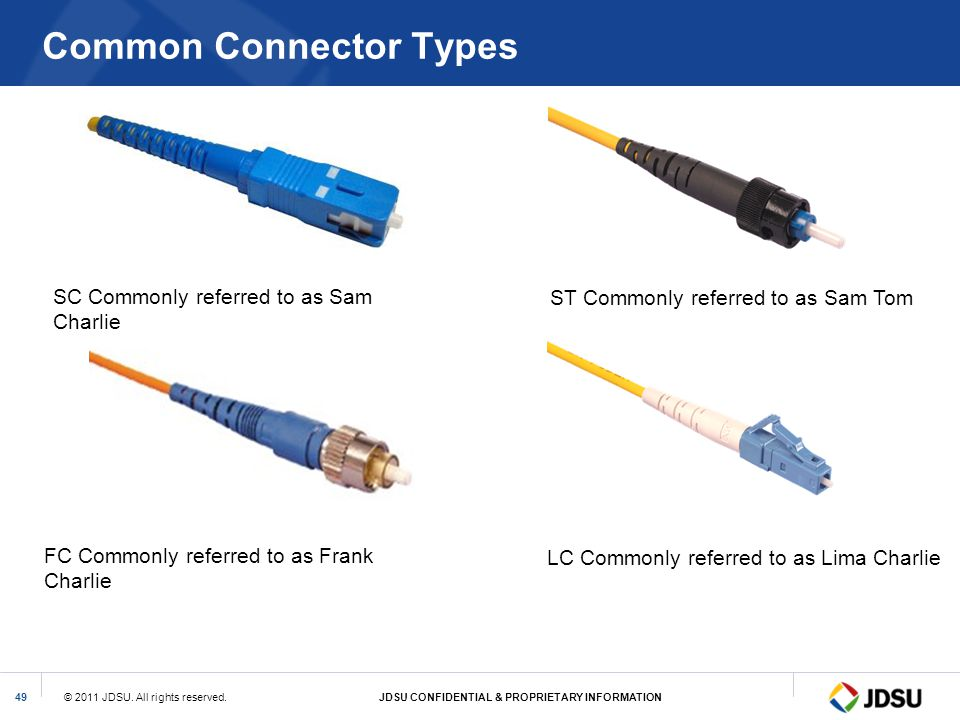 Common Connector Types