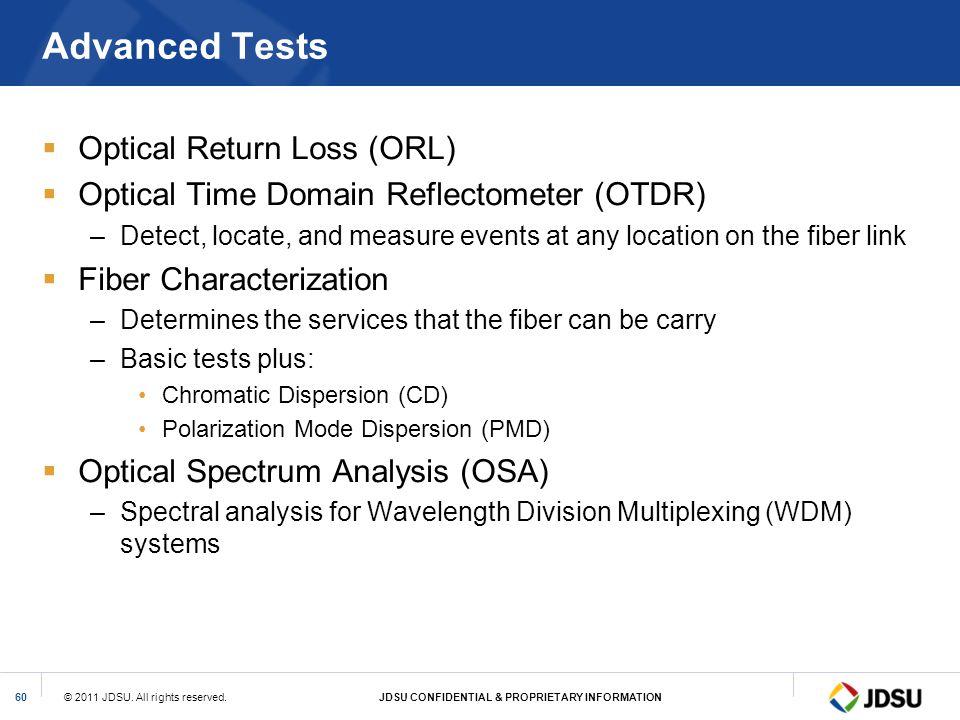 Advanced Tests Optical Return Loss (ORL)