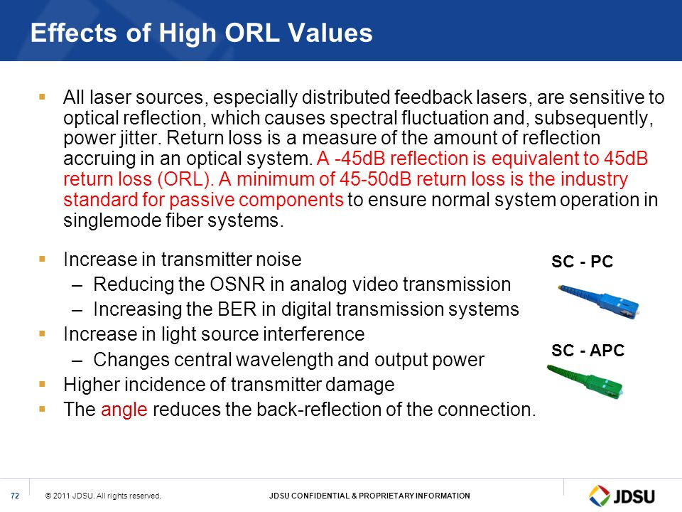 Effects of High ORL Values