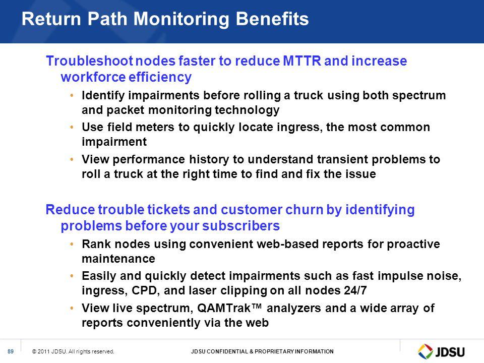 Return Path Monitoring Benefits