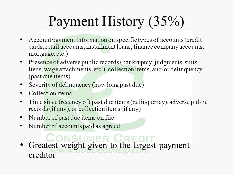Payment History (35%)