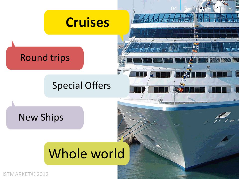 Cruises Whole world Round trips Special Offers New Ships