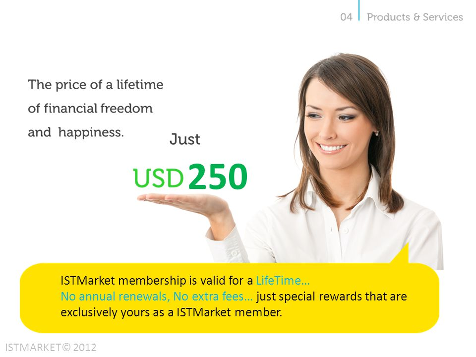 250 ISTMarket membership is valid for a LifeTime…