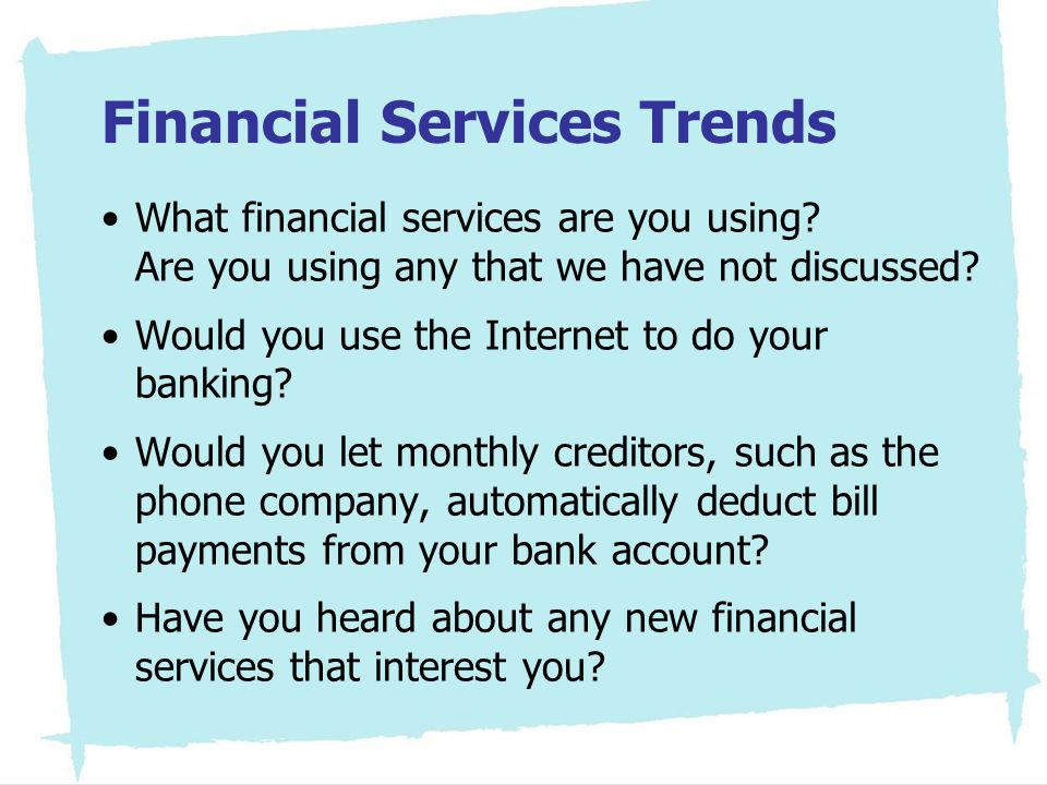 Financial Services Trends