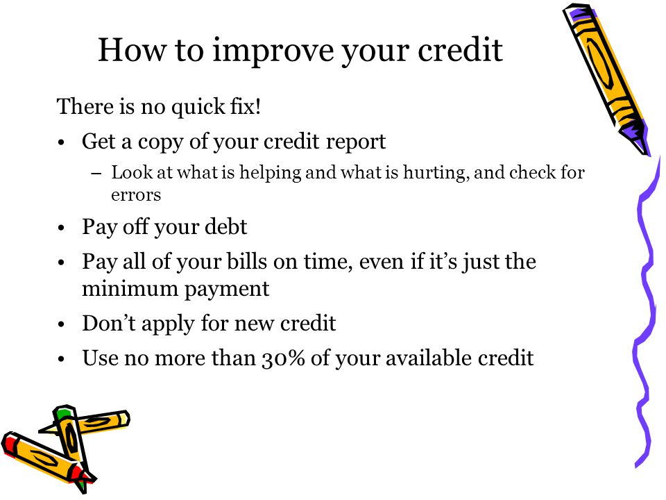 How to improve your credit