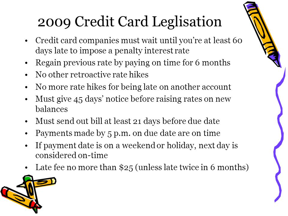 2009 Credit Card Leglisation