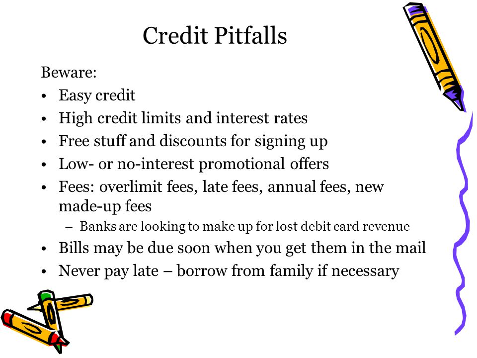 Credit Pitfalls Beware: Easy credit