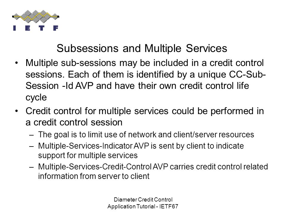 Subsessions and Multiple Services