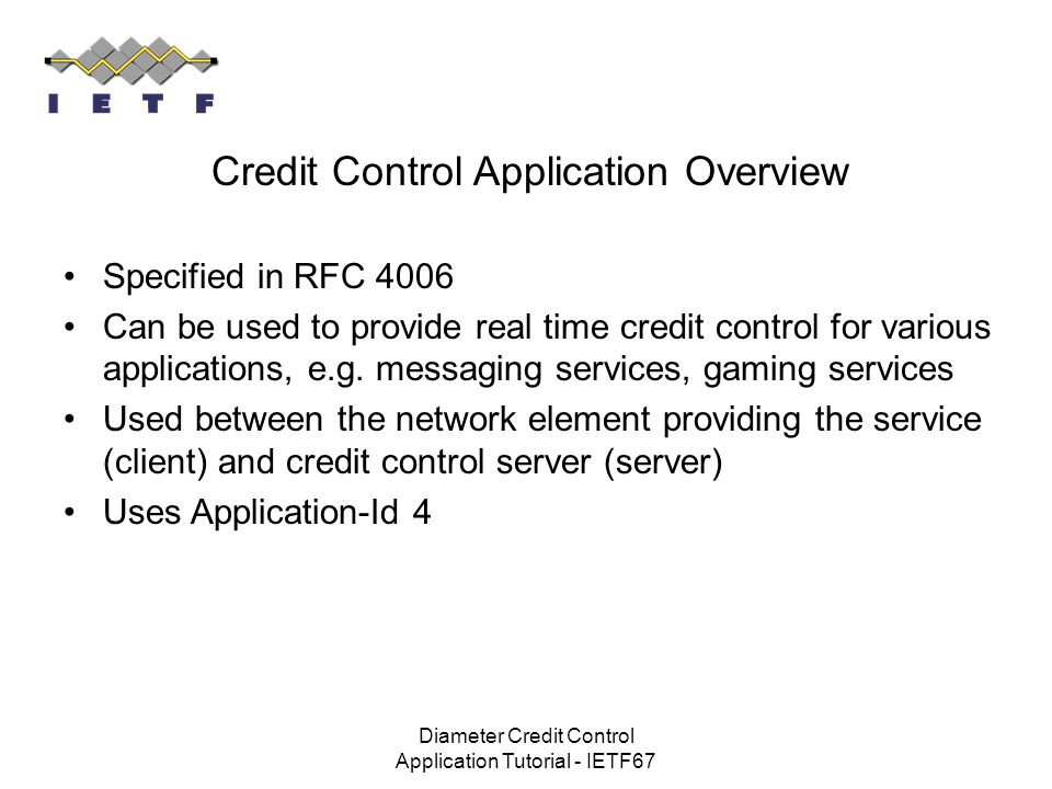 Credit Control Application Overview