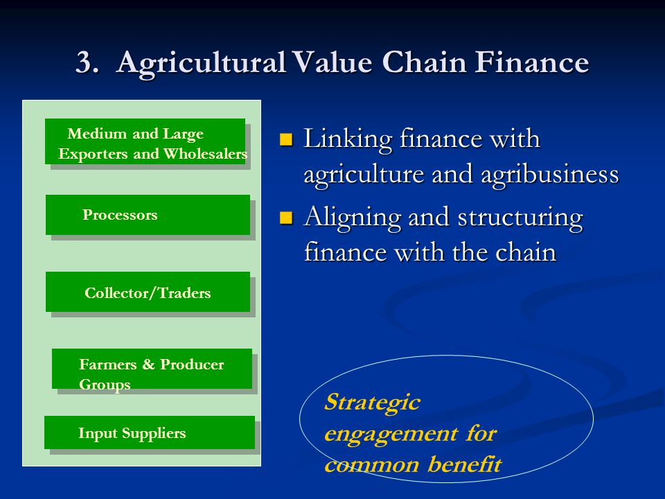 3. Agricultural Value Chain Finance