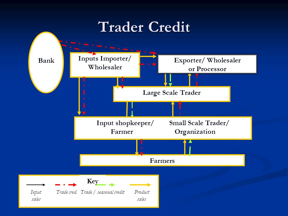 Inputs Importer/ Wholesaler Input shopkeeper/ Small Scale Trader/