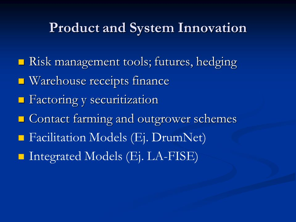 Product and System Innovation